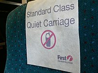 Antimacassar on a rail carriage seat
