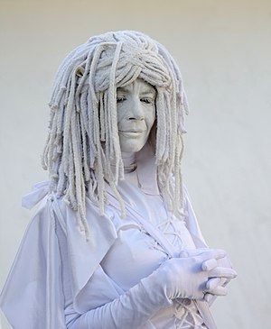 English: A living statue in Miami Beach, Flori...