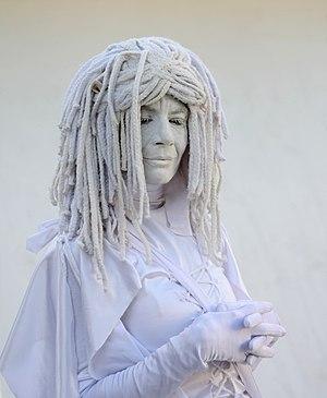 English: A living statue in Miami Beach, Flori...