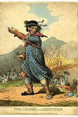 "Ned Ludd, líder de los ""Luditas"""
