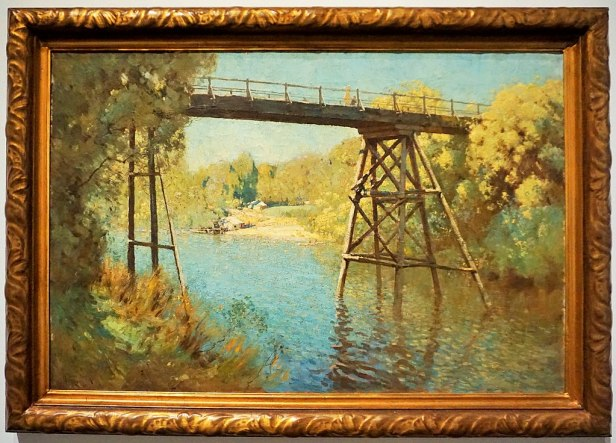 """National Gallery of Australia - Joy of Museums - """"Bridge and Wattle at Warrandyte"""" by Penleigh Boyd"""