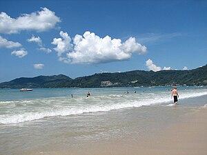 Patong beach, Phuket Province, Thailand.