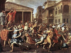 Nicolas Poussin, The Rape of the Sabine Women,...