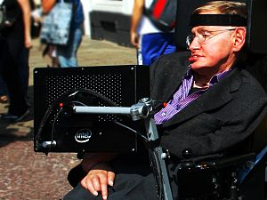 Professor Stephen Hawking in Cambridge, UK.