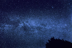 English: The Milky Way with the Andromeda Gala...