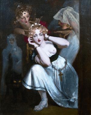 Bertalda Frightened by Apparitions c.1830-1835