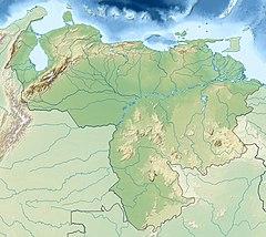 Χάρτης που δείχνει τη θέση του Canaima National Park