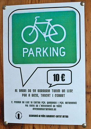Sa Gerreria Comunity bike parking