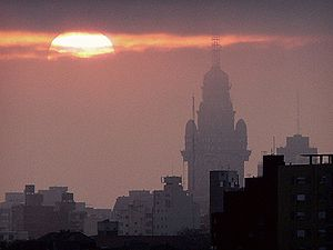 Sunset in Montevideo, Uruguay.