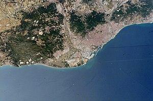 Astronaut photo of Barcelona, Catalonia, Spain...