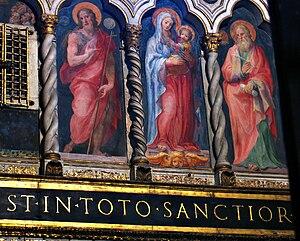Italiano: Affreschi del Sancta Sanctorum della...