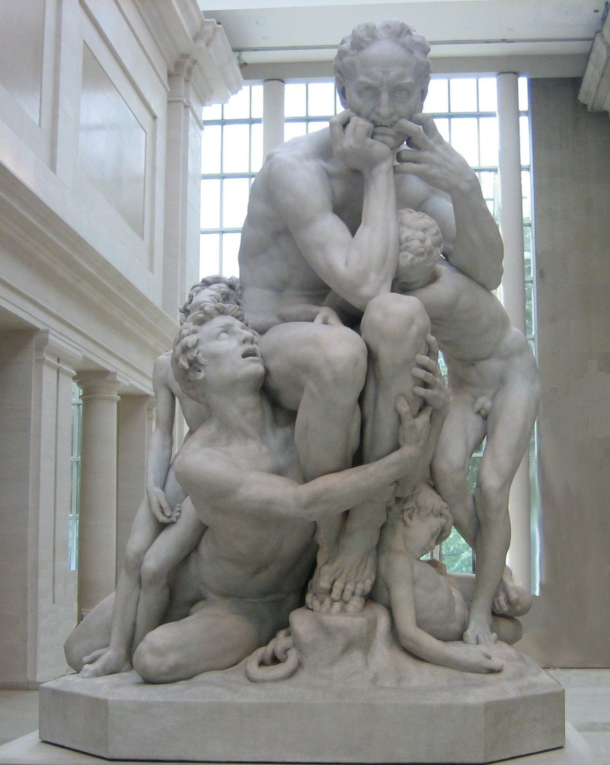 Jean-Baptiste Carpeaux's marble sculpture 'Ugolino and his Sons', Metropolitan Museum of Art.jpg