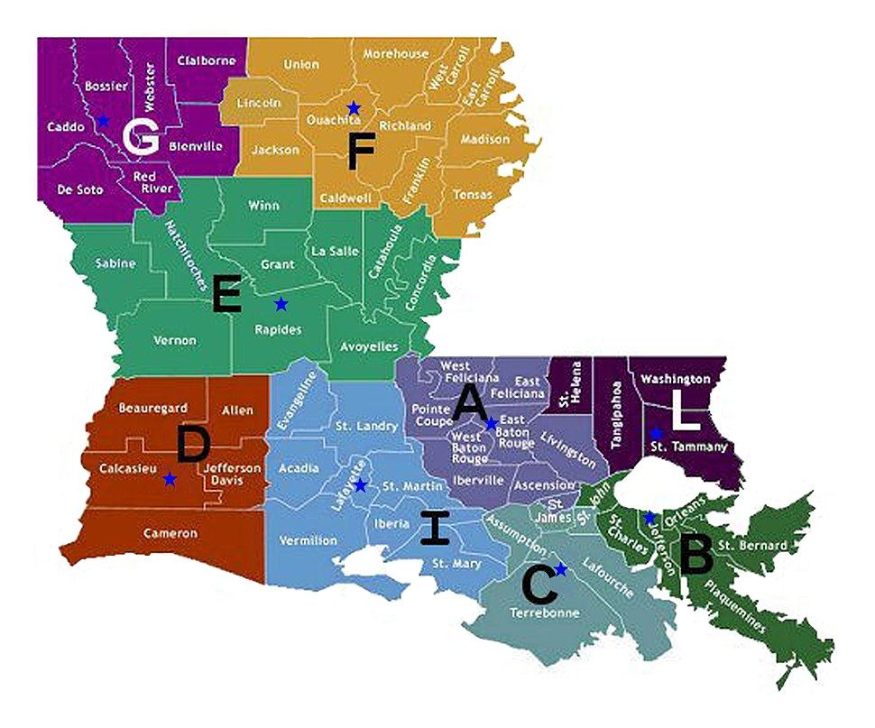 Baton Rouge Police Jurisdiction Map