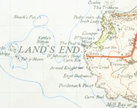 Mapa de Land's End (de 1946)