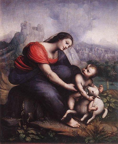 File:Madonna z Dzieciątkiem i barankiem.jpg