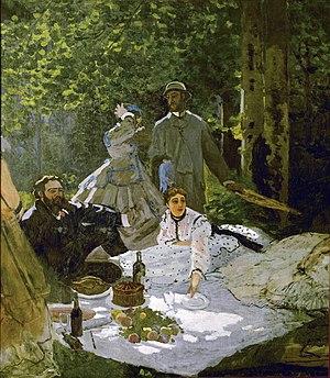 Claude Monet, Le déjeuner sur l'herbe, with Gu...