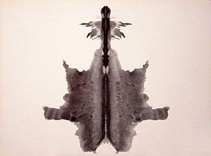 the sixth blot of the Rorschach inkblot test