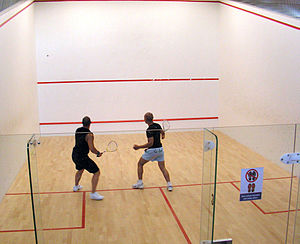 A game of squash
