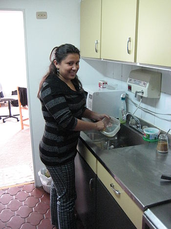English: Domestic worker in Colombia Nederland...