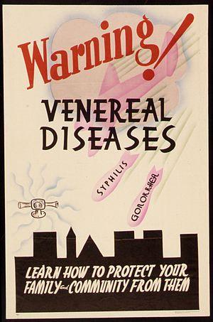 """WARNING - VENEREAL DISEASES"" - NARA..."