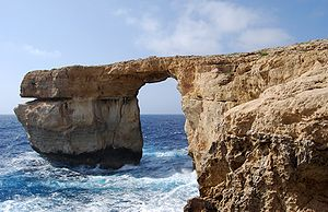 English: The Azure Window near San Lawrenz, Go...