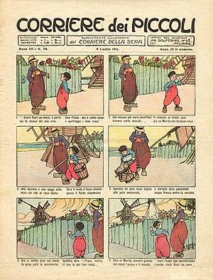 copertina del corriere dei piccoli del 1911