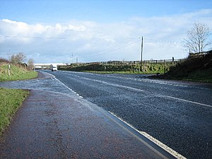 English: Crossroads. The A26 road from Moira t...