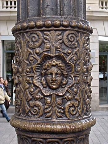 detail of a street lamp in Paris, Avenue des C...