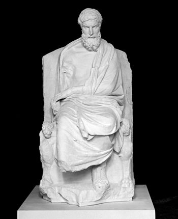 English: Epicurus sitting