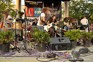 English: Givers at Downtown Alive, Lafayette, ...