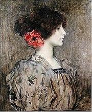 Colette en 1896, par Jacques Humbert