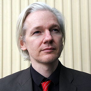 Julian Assange, from Wikileaks, at the SKUP co...