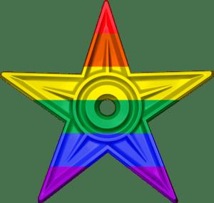 English: The LGBT Barnstar is awarded to edito...
