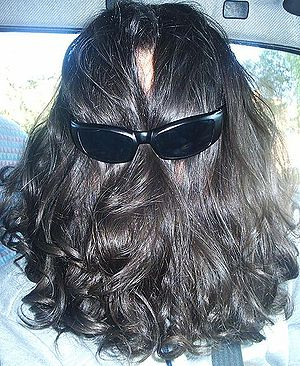 Long hair with sunglasses