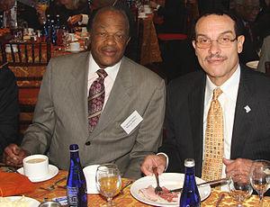 Former Mayor Marion Barry alongside Mayor Elec...