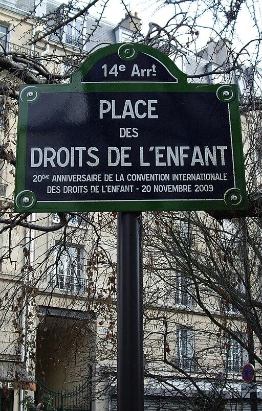Place des Droits-de-l'enfant, Paris 14
