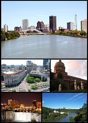 Images from left to right; Rochester Skyline, ...