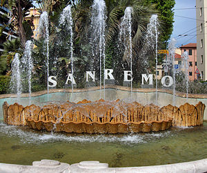 English: Fountain in Sanremo, Italy