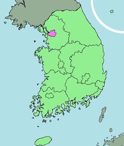 Vị trí Seoul trên bản đồ Hàn Quốc