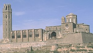 Catedral Seu Vella de Lleida en España.