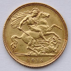 A 1914 half-sovereign minted in Sydney