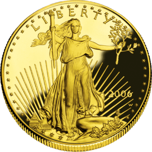 An American Gold Eagle.