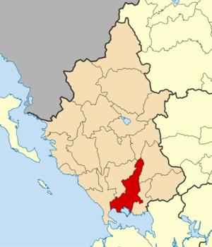 English: Locator map for Arta municipality in ...
