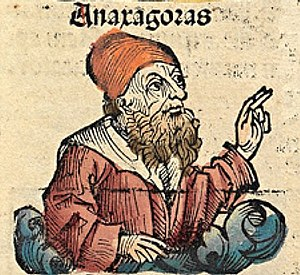 Ancient Greek philosopher Anaxagoras, depicted...
