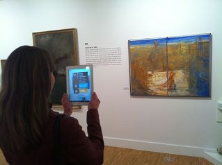Augmented reality at Museu de Mataró linking to Catalan Wikipedia (47)