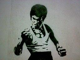Bruce Lee Stencil