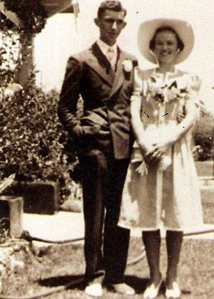 Bride and groom, California
