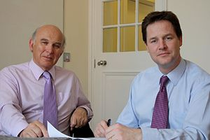 English: Nick Clegg and Vince Cable