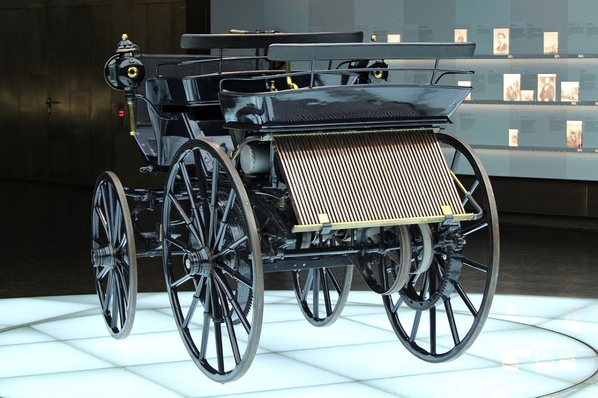 First Four Wheeled Vehicle