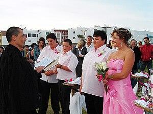 Two women getting married at Langebaan, South ...